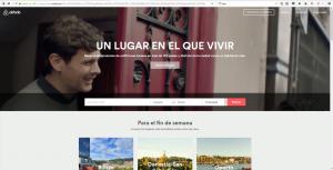 web de airbnb